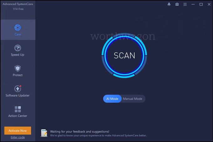 Advanced SystemCare 14 PRO AI Mode Scan