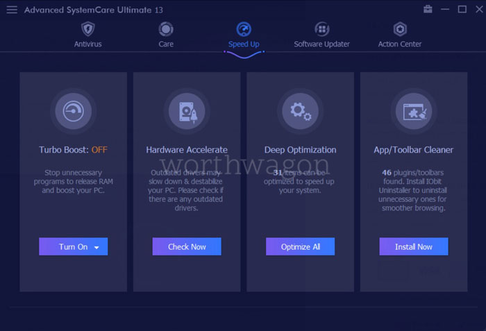 Advanced SystemCare Ultimate 13 Speed Up