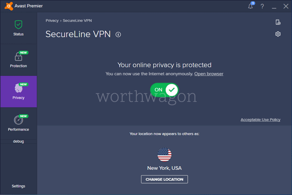 Avast Ultimate - SecureLine VPN Features
