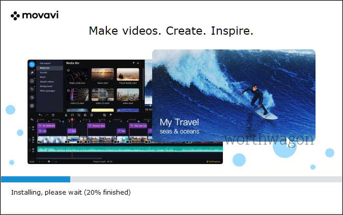 movavi video editor plus 2021 installing