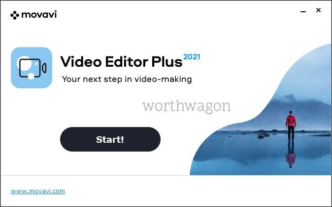movavi video editor plus 2021 start