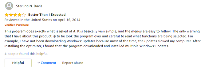 Advanced SystemCare user review good