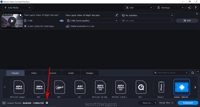 create custom preset in movavi video converter