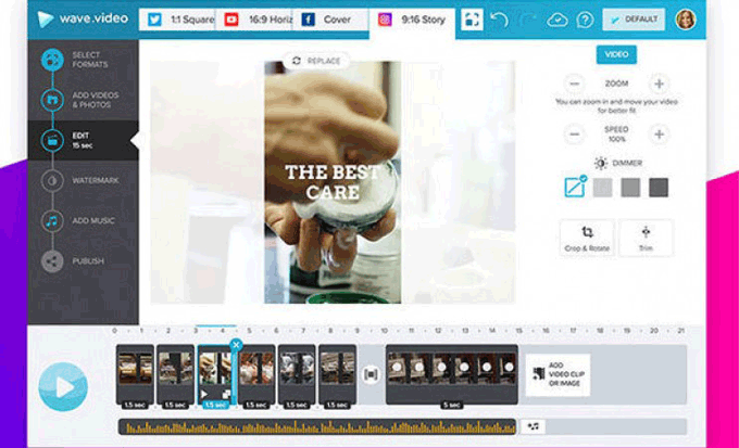 Wavw.video resize option