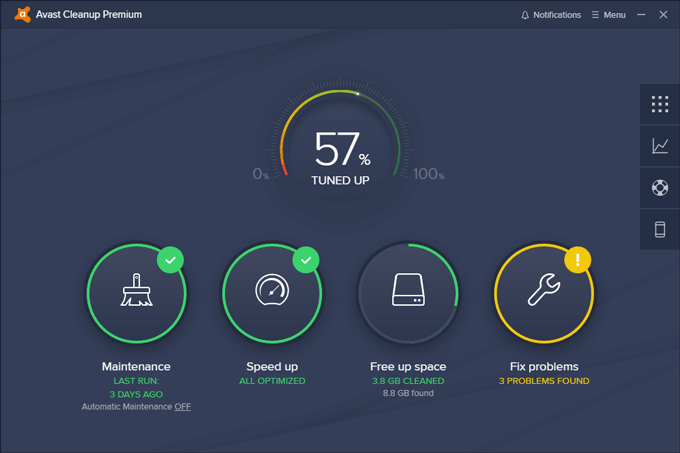 Avast Cleanup welcome screen