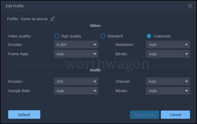 FonePaw Video Converter adjust quality